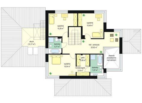 Dom z widokiem rzut piętra